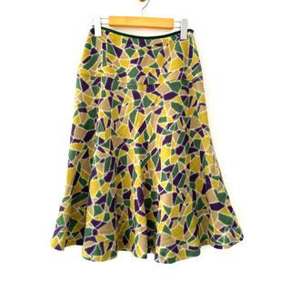 シビラ(Sybilla)のSybilla シビラ◆ひざ下丈 スカート サイズM ウール100% 日本製(ひざ丈スカート)