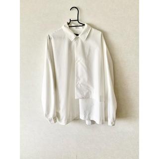 ハレ(HARE)のhare  ブロードデザインシャツ  ホワイト(シャツ)