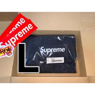 Supreme - ◆L◆Supreme box logo L/S Tee NAVY
