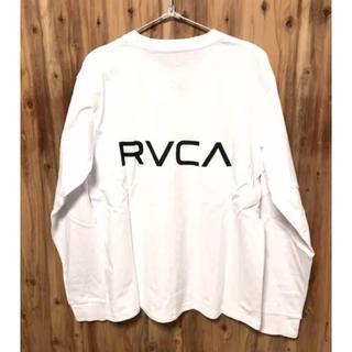 ルーカ(RVCA)のSサイズ RVCA ルーカ ルカ ロンT パーカー スウェット 長袖Tシャツ 白(Tシャツ/カットソー(七分/長袖))