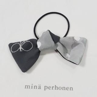 ミナペルホネン(mina perhonen)のミナペルホネン ハンドメイドヘアゴム choucho×ドット(ヘアゴム/シュシュ)