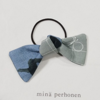 ミナペルホネン(mina perhonen)のミナペルホネン ハンドメイドヘアゴム グリーンchoucho×runrunrun(ヘアアクセサリー)