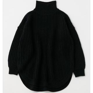 moussy - MOUSSY ROUND HEM セーター ブラック