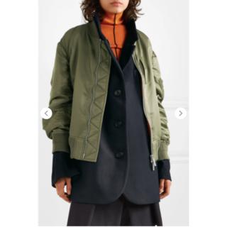 sacai - Sacai MA-1 x Melton  jacket