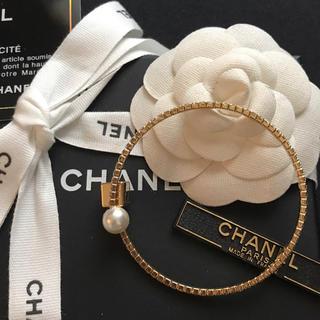 CHANEL - 【新入荷】CHANEL キラキラビジュー×パール×キューブデザイン ブレスレット