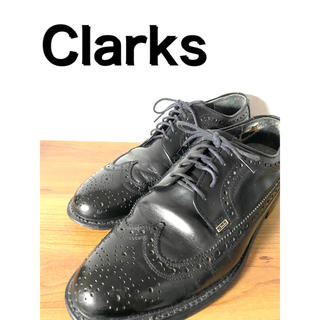 クラークス(Clarks)のClarks クラークス 革靴 ドレスシューズ ウィングチップ レザー 黒(ドレス/ビジネス)