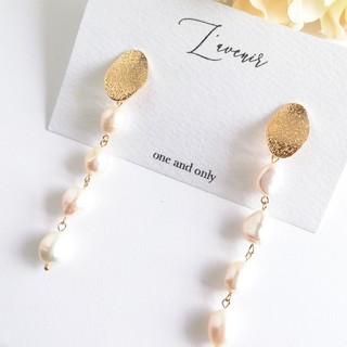 Chesty - 【再販♡】4連淡水真珠のロングピアス