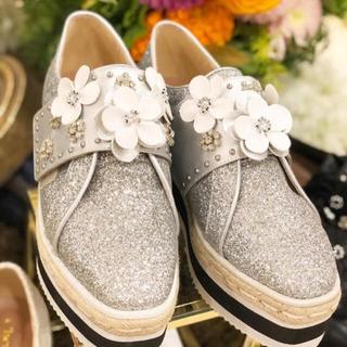 チェスティ(Chesty)のchesty チェスティ Flower Platform Shoes シルバー(スニーカー)