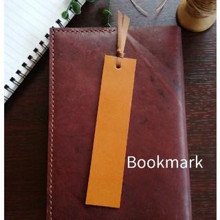 革のしおり Bookmark ブラウン (しおり/ステッカー)