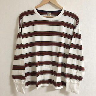 ダブルネーム(DOUBLE NAME)のDOUBLE NAME * ボーダーTシャツ(Tシャツ(長袖/七分))