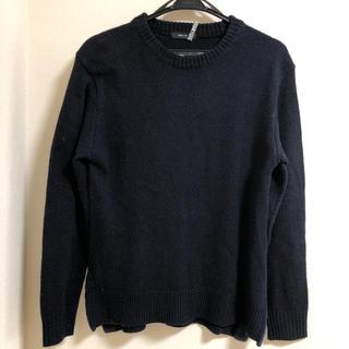 コムサイズム メンズニット セーター 紺色