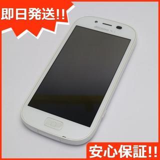 フジツウ(富士通)の美品 F-06F らくらくスマートフォン3 ホワイト (スマートフォン本体)