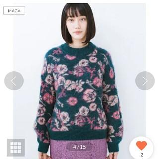 ハコ(haco!)の野ばら柄のジャガードニット(ニット/セーター)