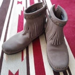 ミネトンカ(Minnetonka)のMINNETONKAフリンジブーツ(ブーツ)