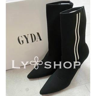 ジェイダ(GYDA)のGYDA 新品 ショートソックスブーツ ブラック Mサイズ(ブーツ)