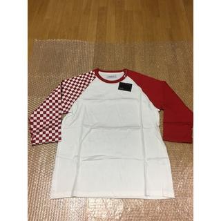 GOODENOUGH - 新品RESONATE 七分丈 チェッカーフラグTシャツ L GOODENOUGH