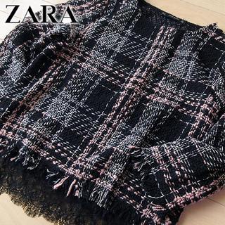 ZARA - 新品タグ付 ZARA Basic ザラ (EUR)S ツイードカットソー