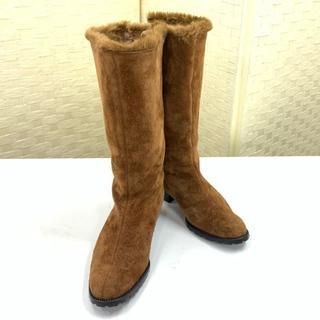 エレガンスヒミコ(elegance卑弥呼)の美品!エレガンス卑弥呼 elegance ブーツ ファー サイズ23㎝ 靴(ブーツ)