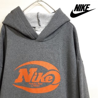 NIKE - 【レア】 NIKE ナイキ プルオーバー パーカー ワイド 小文字ロゴ 古着