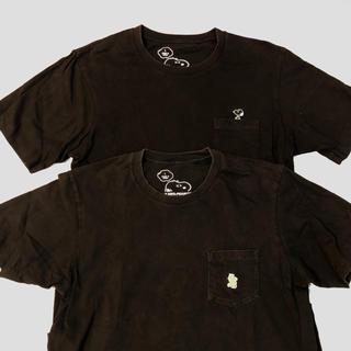 UNIQLO - ユニクロ カウズ ピーナッツ Tシャツ Lサイズ2枚セット ブラック