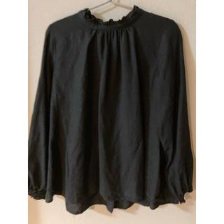 nest Robe - ネストローブ リネンスタンドフリルシャツ ブラック