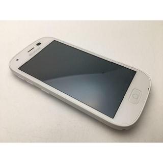 フジツウ(富士通)のSIMフリー ドコモ らくらくスマートフォン4 F-04J ホワイト中古346(スマートフォン本体)