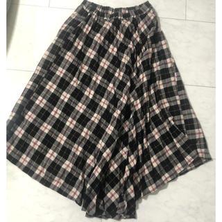 バックナンバー(BACK NUMBER)のライトオン チェック プリーツスカート  アシメントリー (ロングスカート)