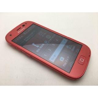 フジツウ(富士通)のSIMフリー ドコモ らくらくスマートフォン4 F-04J レッド美品345(スマートフォン本体)