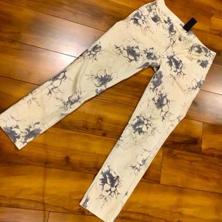 ダブルスタンダードクロージング(DOUBLE STANDARD CLOTHING)のダブルスタンダード ストレッチ パンツ 38 オフホワイト ブルーグレー (カジュアルパンツ)