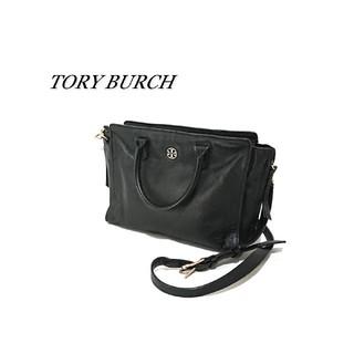 トリーバーチ(Tory Burch)のTORY BURCH トリーバーチ 2wayバッグ ブラック レザー(ショルダーバッグ)