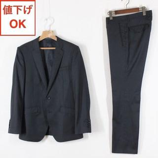 P.S.FA スーツ A6 メンズ 04 黒 L シルク混 tqe ★新品同様★(セットアップ)