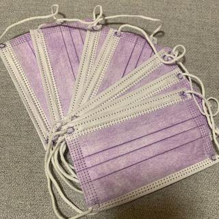 不織布カラーマスク 小さめサイズ パープル 10枚