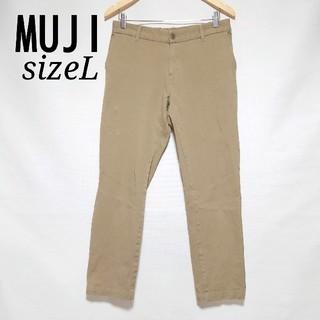 MUJI (無印良品) - 無印良品  チノパン ストレッチパンツ ベージュ Lサイズ