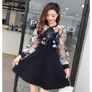 フラワー ワンピース ドレス キャバミニドレス
