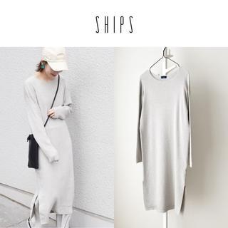 シップス(SHIPS)の19AW SHIPS コットンレーヨンニットワンピース(ロングワンピース/マキシワンピース)