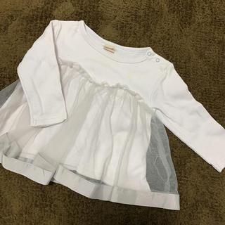 プティマイン(petit main)のプティマイン♡チュール付き長袖トップス 80(Tシャツ)