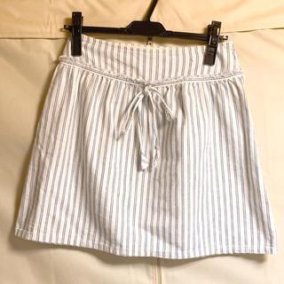 ジルスチュアート(JILLSTUART)の♡JILLSTUART ジルスチュアート♡レディース 青 白 ストライプスカート(ひざ丈スカート)