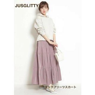 JUSGLITTY - 新品未使用タグ付き☆ジャスグリッティー タックプリーツスカート