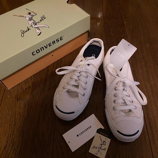 CONVERSE(コンバース)のコンバース ジャックパーセル ホワイト 23.5cm レディースの靴/シューズ(スニーカー)の商品写真