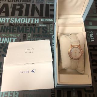 カナルヨンドシー(canal4℃)の4°C 時計 (3月の誕生日石アクアマリン)(腕時計)
