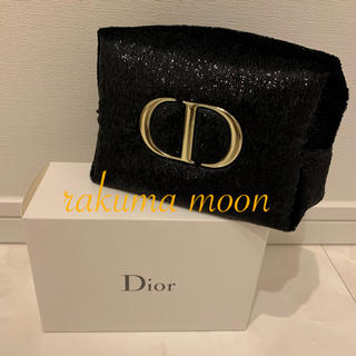 Christian Dior - ディオール ポーチ 黒 ブラック コスメ 限定 クリスマス コフレ オファー