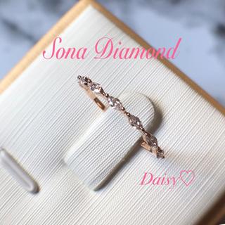 【早い者勝ち!】SONAダイヤモンド マーキス ハーフエタニティリング 15号(リング(指輪))