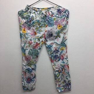 ザラキッズ(ZARA KIDS)の花柄パンツ ブルー ZARA キッズ 新品未使用 タグ付き 送料込み(パンツ/スパッツ)
