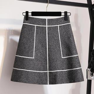 tocco - 【残り1点】ラインデザインニット素材スカート(ブラック)