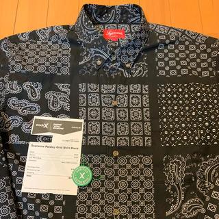 Supreme - Supreme Paisrey grid shirt Brack L