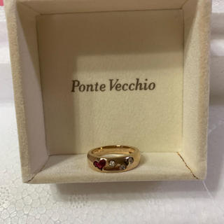 ポンテヴェキオ(PonteVecchio)のポンテヴェキオ ハート ルビー ダイヤモンド リング(リング(指輪))