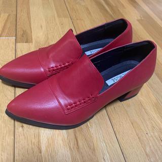 CHICMUSE ポインテッドトゥヒールシューズ(ローファー/革靴)