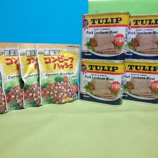 チューリップポーク&無添加コンビーフハッシュ                 (缶詰/瓶詰)