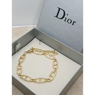 クリスチャンディオール(Christian Dior)のCD335 未使用【Dior ディオール】ブレスレット CDロゴ ゴールド(ブレスレット/バングル)
