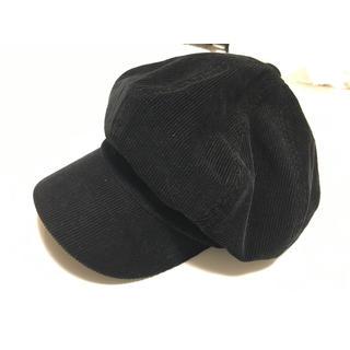 サニーレーベル(Sonny Label)のアーバンリサーチ  サニーレーベル コーデュロイ 黒キャスケット 帽子 キャップ(キャスケット)